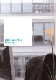 Global Securities Financing - Clearstream