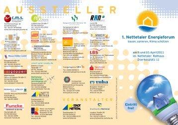 1. Nettetaler Energieforum - Stadt Nettetal