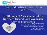 Christine McMaster, Public Health Agency Northern Ireland Institute ...