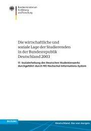 17. Sozialerhebung - Deutsches Studentenwerk