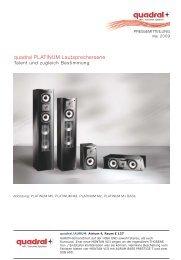 quadral PLATINUM Lautsprecherserie