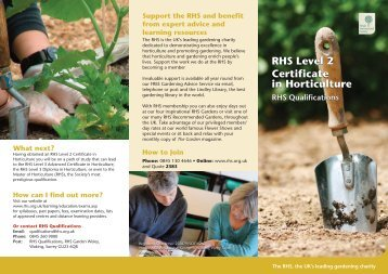 Support The RHS And Benefit From Expert Advice And Learning
