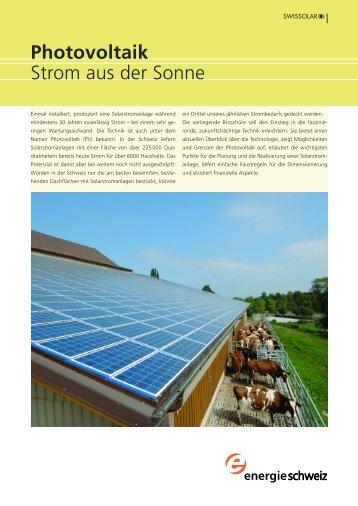 Photovoltaik Strom aus der Sonne - Topten