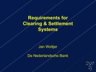 Requirements for Clearing & Settlement Systems - World Bank