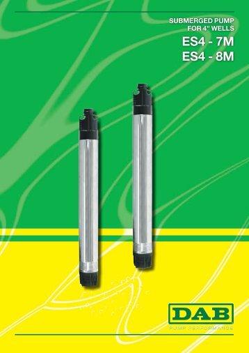 ES4 - 7M ES4 - 8M - Dab Pumps