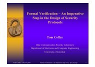 Formal Verification - ECE Student Information - University of Limerick