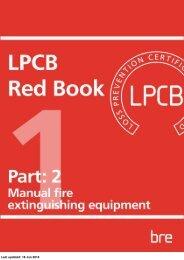 Manual fire extinguishing equipment - RedBookLive