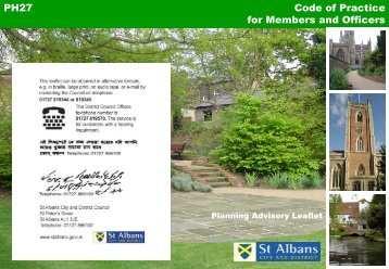 Planning code of practice for members and officers - St Albans City ...