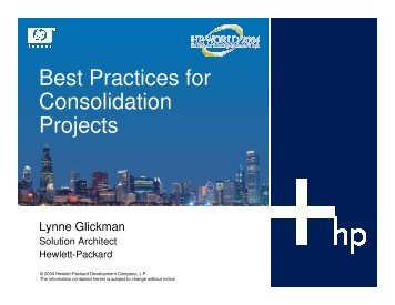 Best Practices for Consolidation Projects - OpenMPE