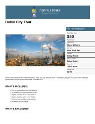 Dubai City SightSeeing Tour - Memphis Tours Egypt