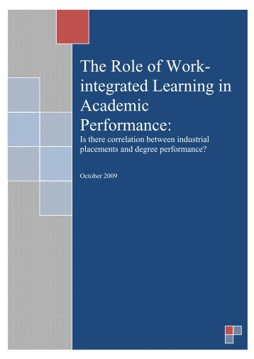 The Role of Work-integrated Learning in Academic ... - WACE