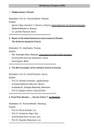 Workshops (Congress 2009) 1. Religiousness in ... - Renovabis