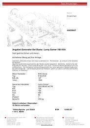 Angebot Generator-Set Deutz Leroy Somer 160 kva