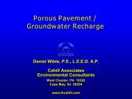 Porous Pavement / Groundwater Recharge - Project Clean Water