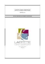 Télécharger le Prospectus Complet Laffitte Index Arbitrage