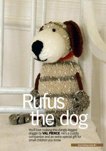 You'll love making this dangly-legged doggie by Val ... - Knit Today