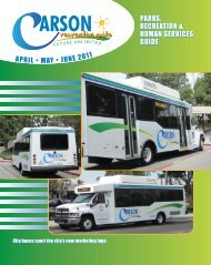 parks, recreation & human services guide parks ... - City of Carson