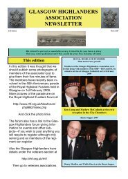 Newsletter No6 - March 2009 - The Royal Highland Fusiliers