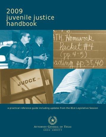 Juvenile Justice Handbook - Texas Attorney General