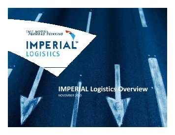IMPERIAL Logistics Overview Presentation wc