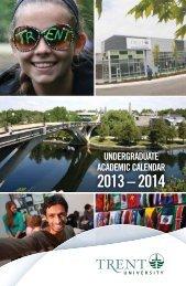 UNDERGRADUATE AcADEmic cAlENDAR - Trent University