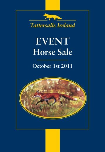 Event Sale Catalogue - Tattersalls