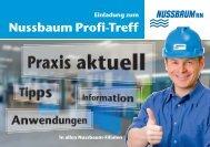 Einladung zum Nussbaum Profi-Treff - R. Nussbaum AG