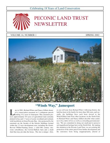 Spring 2002 (pdf) - Peconic Land Trust