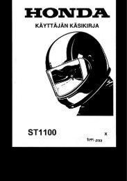 ST1100 1999-2001 käsikirja (.pdf, 2.46 MB) - Honda