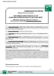 communique de presse - BNP Paribas
