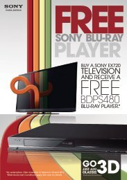 How to get a frEE Blu-ray player - Sony New Zealand