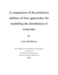 A comparison of the predictive abilities of four approaches for ...