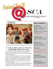 at SCA10-3 - St. Cecilia Academy