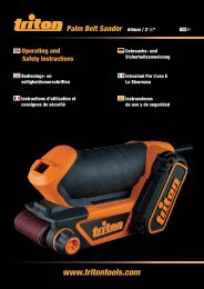 Manuel d'utilisation - Triton Tools