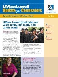 Fall 2011 Newsletter - University of Massachusetts Lowell