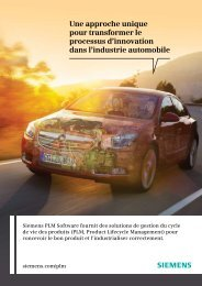 Solutions pour l'industrie automobile - Siemens PLM Software