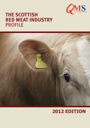 the scottish red meat industry profile - Quality Meat Scotland