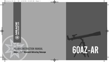 60az-ar polaris instruction manual - Meade