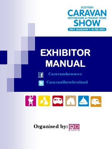 Exhibitor Manual - Scottish Caravan Show
