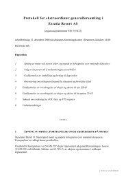 Protokoll for ekstraordinær generalforsamling i Estatia Resort AS