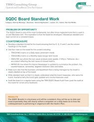 SQDC Board Standard Work (Example) - TBM Consulting Group