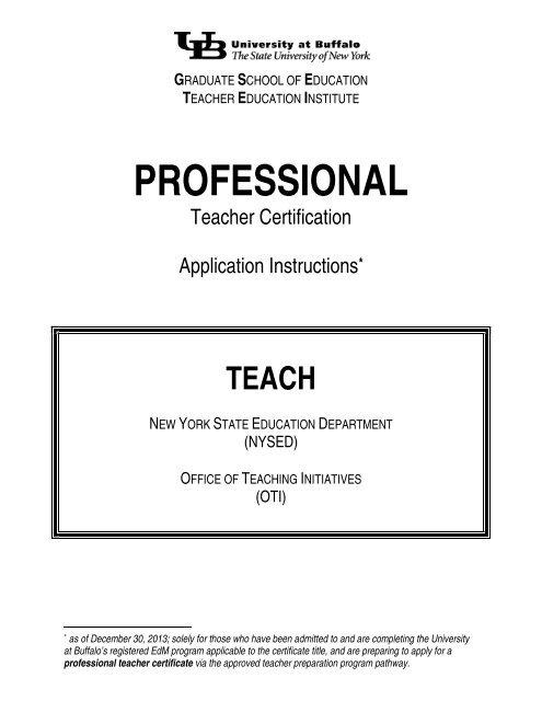 ferpa form university at buffalo  Certification Application Instructions - UB Graduate School ...