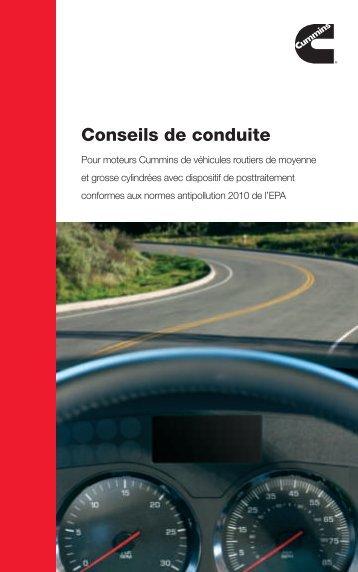 Conseils de conduite - Cummins Engines