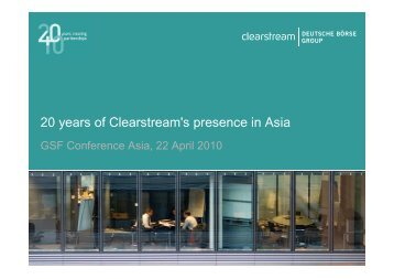 Singapore - Clearstream