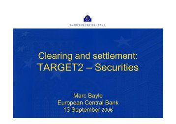 Marc Bayle - Clearstream