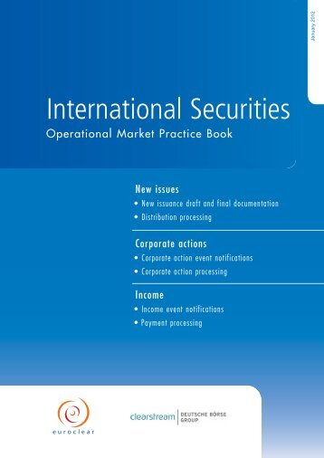 Operational Market Practice Book - Clearstream
