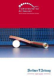 Programmheft 54. TTT 2014 - Berliner Tisch-Tennis Verband