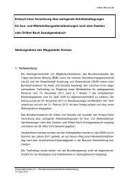 Stellungnahme WK zur Rechtsverordnung 2012 - Wuppertaler Kreis ...