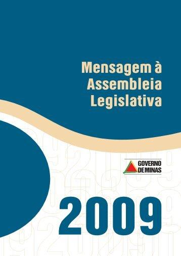 Mensagem do Governador à Assembleia Legislativa, em 2009