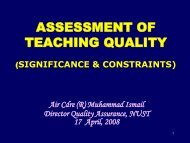Teacher's Assessment - National University of Science and ...